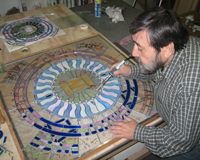 Etched & Leaded Glass Artist at Work