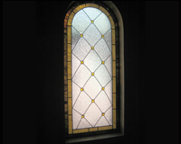 Etched & Leaded Glass Heavy Textured Privacy Glass