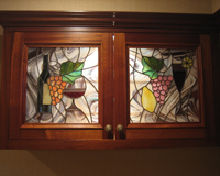 Heavy Textured Privacy Glass, Etched U0026 Leaded Glass Kitchen Cabinet Part 97