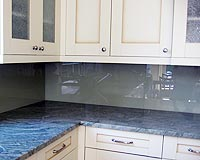 Painted Glass Kitchen Backsplash, Specialty Glass Kitchen Backsplash